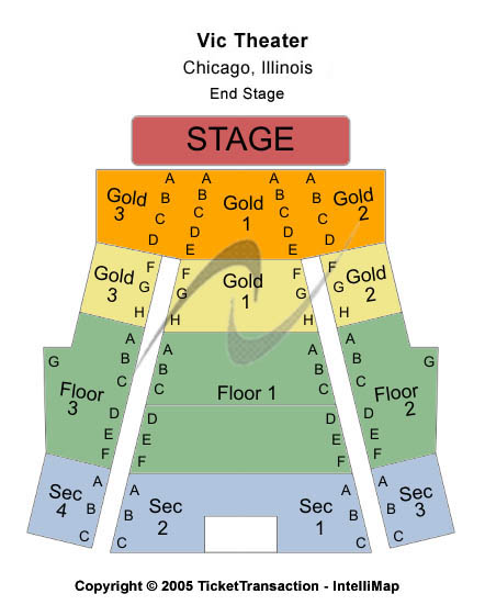 Vic Theatre Seating Map