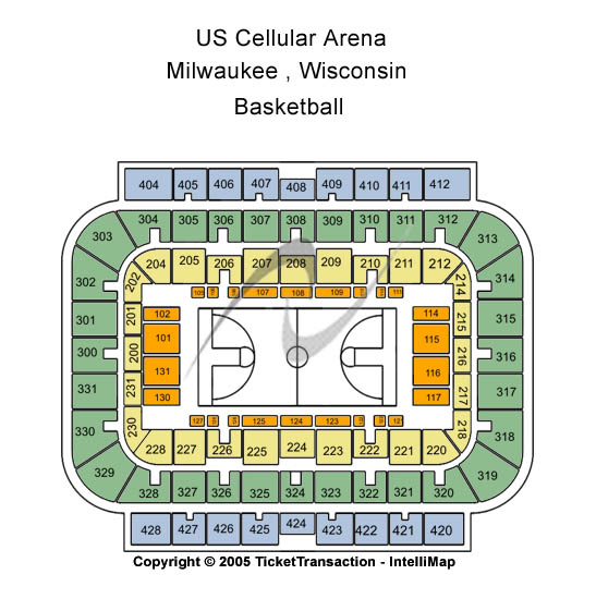 Us Cellular Arena Seating Map
