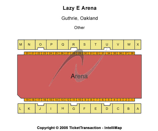 Lazy E Arena Seating Map