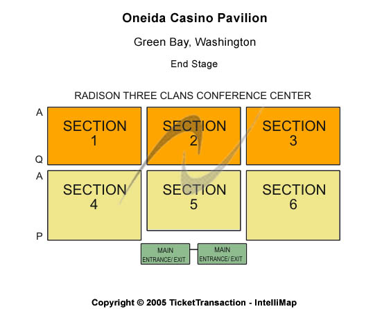 Oneida Casino Pavilion Seating Chart