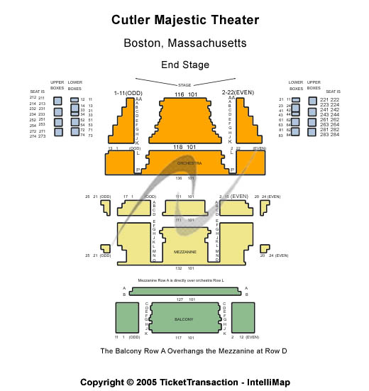 Cutler Majestic Theatre Seating Chart