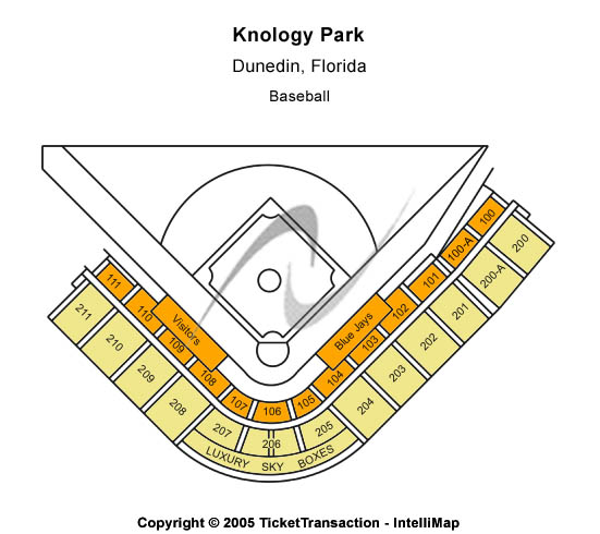 Knology Park Seating Map