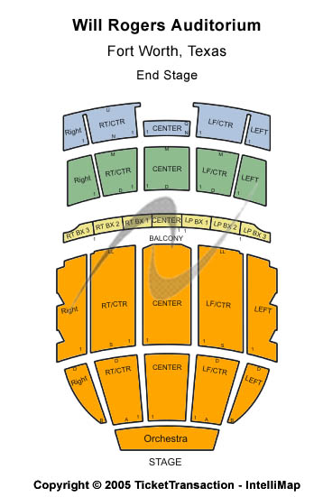 Will Rogers Coliseum Seating Chart