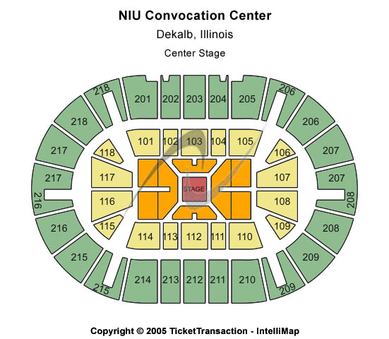 Niu Convocation Center Seating Map