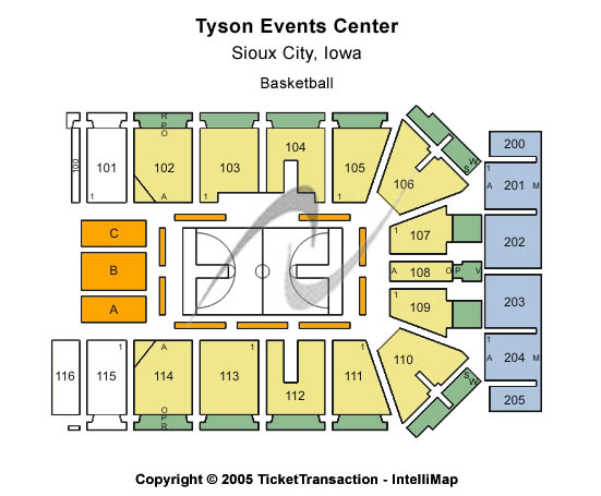 Tyson Events Center/gateway Arena Seating Map