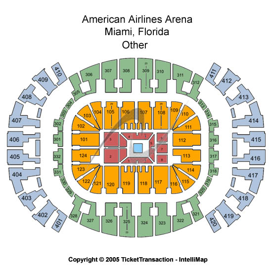 AmericanAirlines Arena Seating Chart