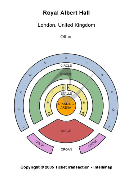 Royal Albert Hall Seating Map