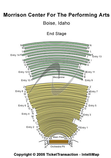 Morrison Center For The Performing Arts Seating Map
