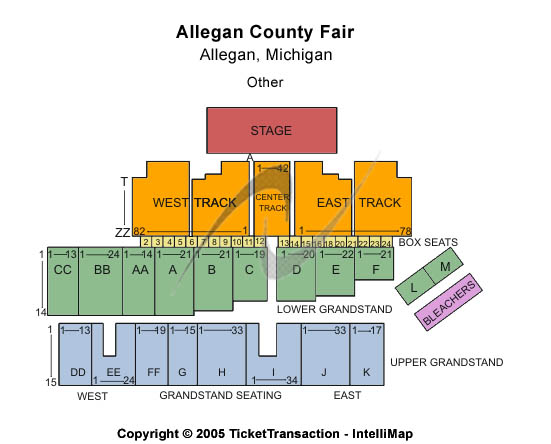 Allegan County Fair Seating Map