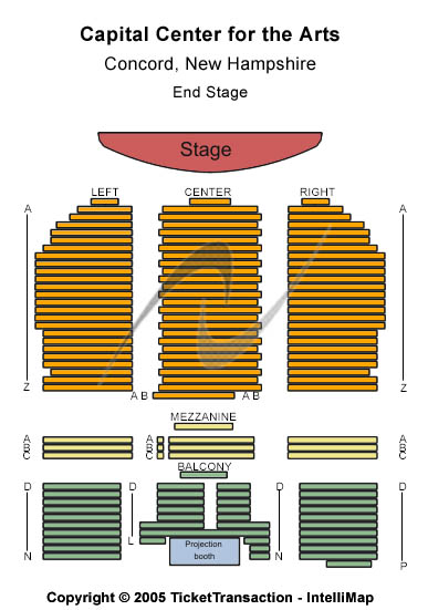 Capitol Center For The Arts-nh Seating Map