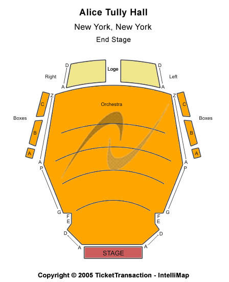 Alice Tully Hall Seating Chart