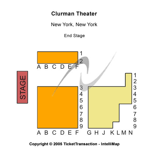 Clurman Theatre Seating Chart