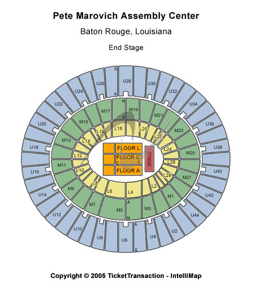 Pete Maravich Assembly Center Seating Map