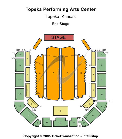 Topeka Performing Arts Center Seating Map