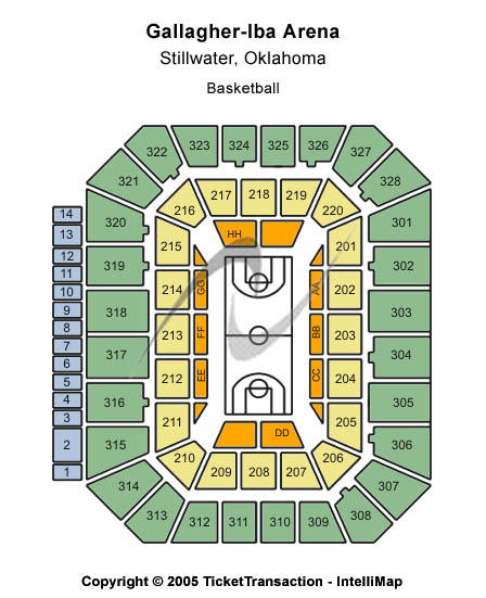 Gallagher IBA Arena Seating Chart