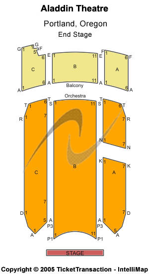 Aladdin Theatre Seating Map