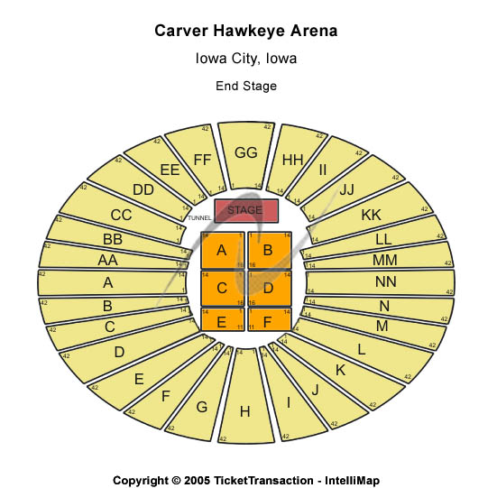 Carver Hawkeye Arena Seating Chart