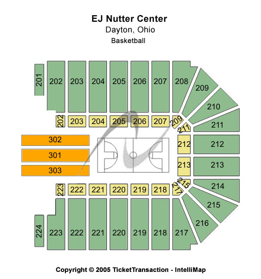 EJ Nutter Center seating chart - Click here to buy Dayton The Harlem Globetrotters Tickets