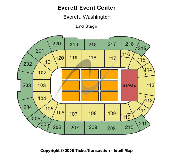 Everett Event Center Seating Map