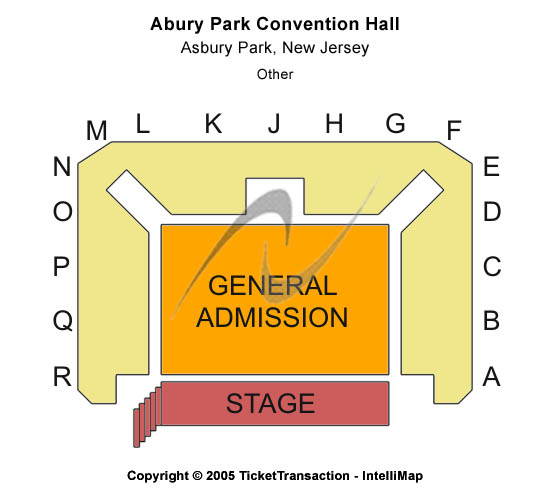 Asbury Park Convention Hall Seating Chart