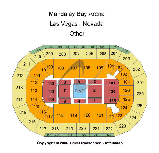 Mandalay bay events center seating chart other