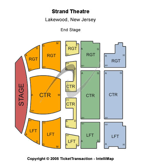 Strand Theatre Seating Chart