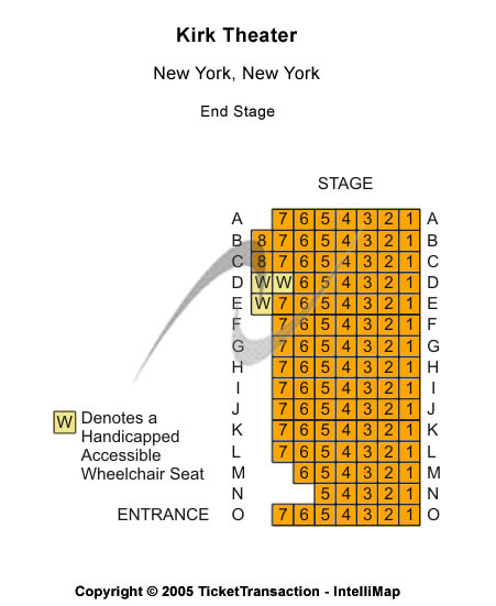 Kirk Theater Seating Chart