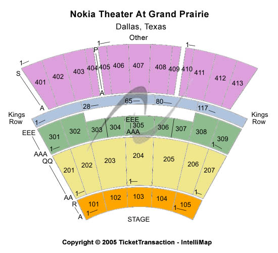 Nokia Live At Grand Prairie Seating Map