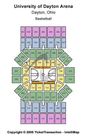 University Of Dayton Arena Seating Map