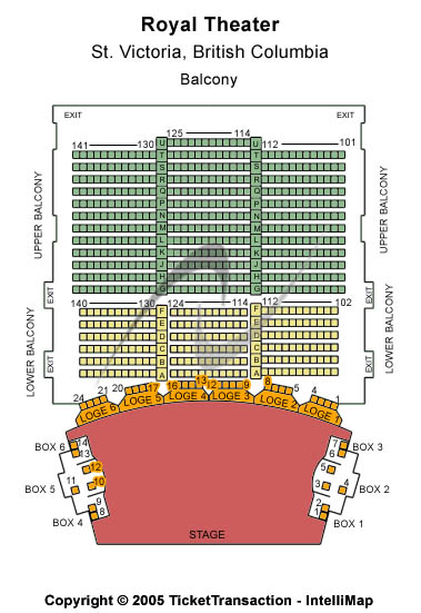 Royal Theater- BC Seating Map