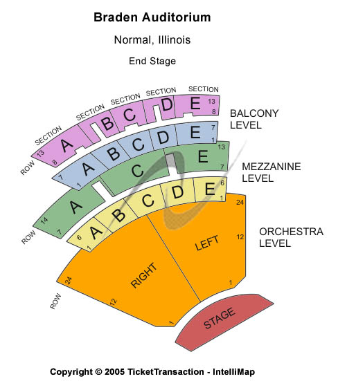 Braden Auditorium Seating Chart