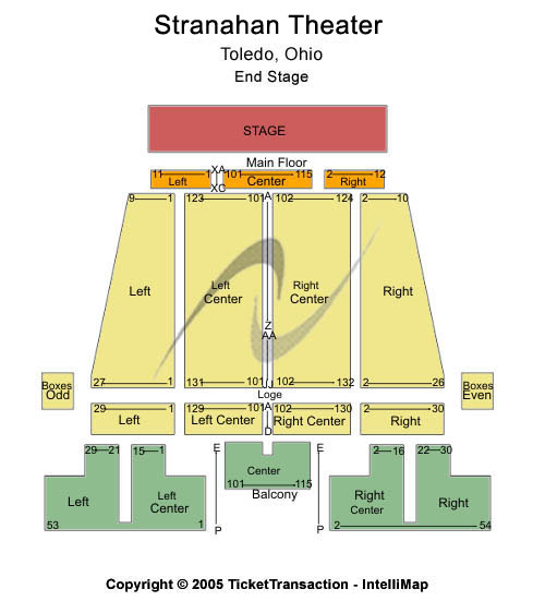 Stranahan Theatre Seating Map