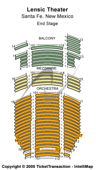 Lensic Theater Seating Chart
