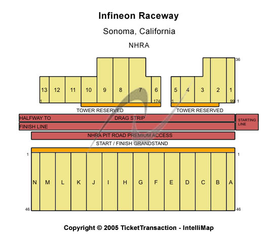Infineon Raceway Seating Map