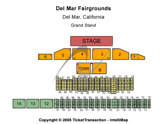 Del Mar Fairgrounds Seating Map