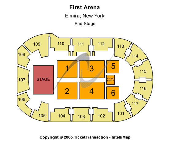 First Arena Seating Map