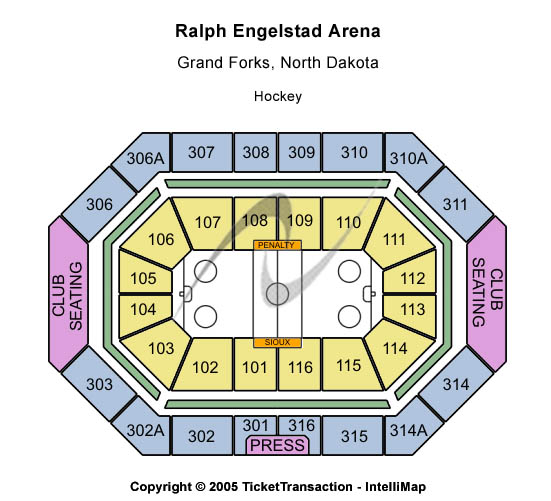 Ralph Engelstad Arena Seating Chart