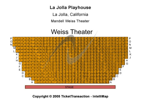 La Jolla Playhouse Seating Chart