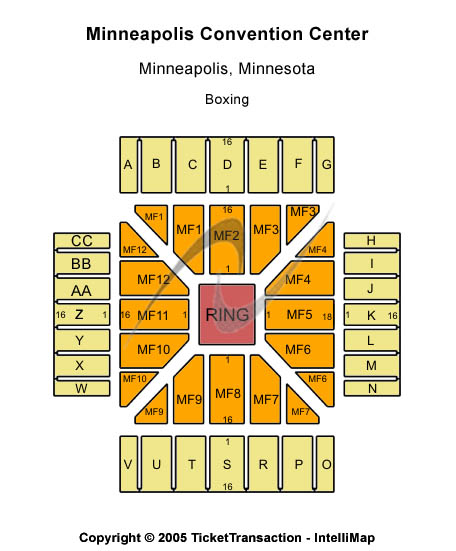 Minneapolis Convention Center Seating Chart