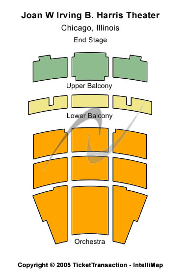 Joan W Irving B. Harris Theater Seating Map