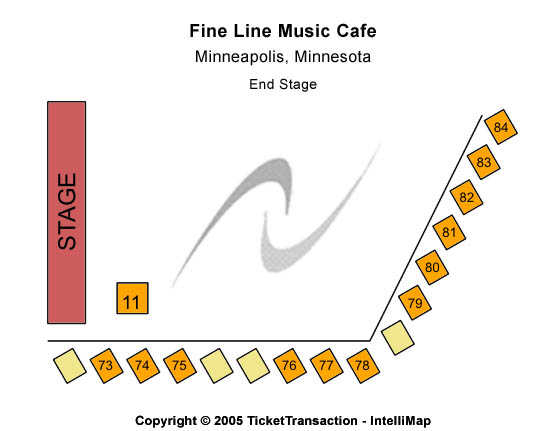 Fine Line Music Cafe Seating Map