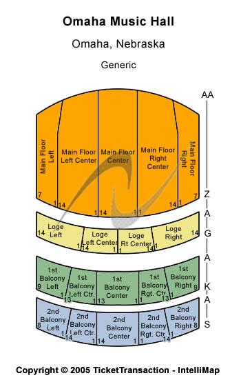 Omaha Music Hall Seating Chart