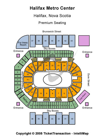 Halifax Metro Centre Seating Map