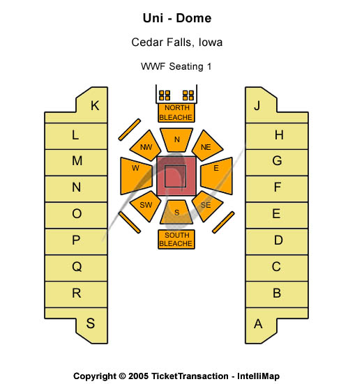 Uni-dome Seating Map