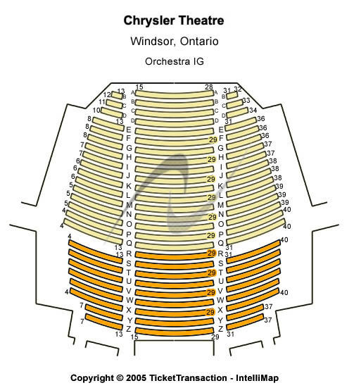 Chrysler Theatre Seating Chart