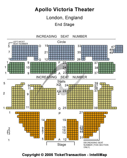 Apollo Victoria Theatre Seating Chart