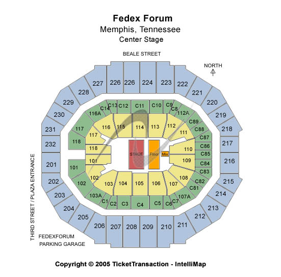 Fedex Forum Seating Chart