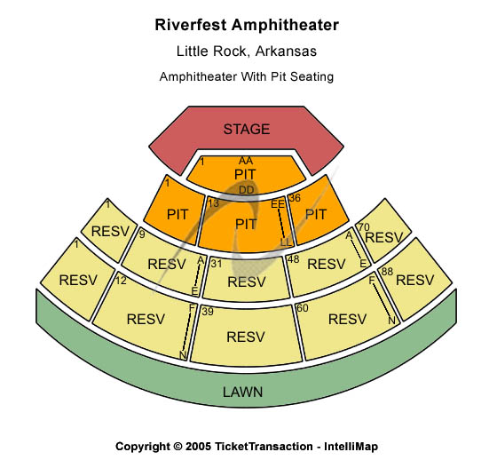 Riverfest Amphitheatre Seating Map