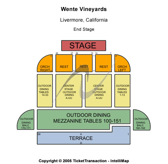 Wente Vineyards Seating Chart