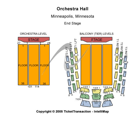 Orchestra Hall-mn Seating Map